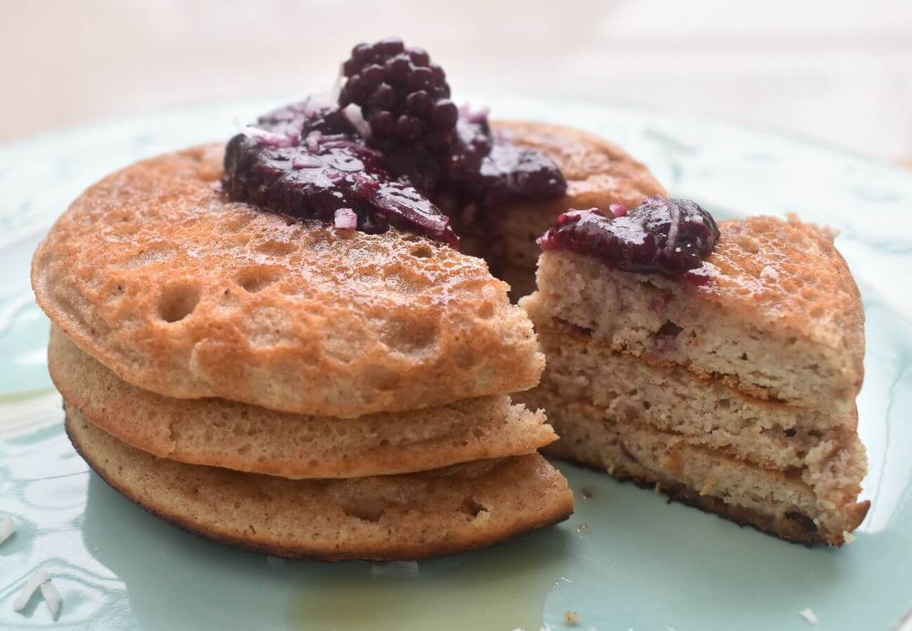 Minipancakes almendra y coco