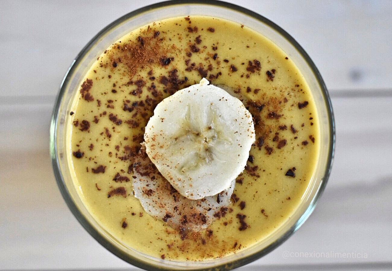 Licuado plátano y mango