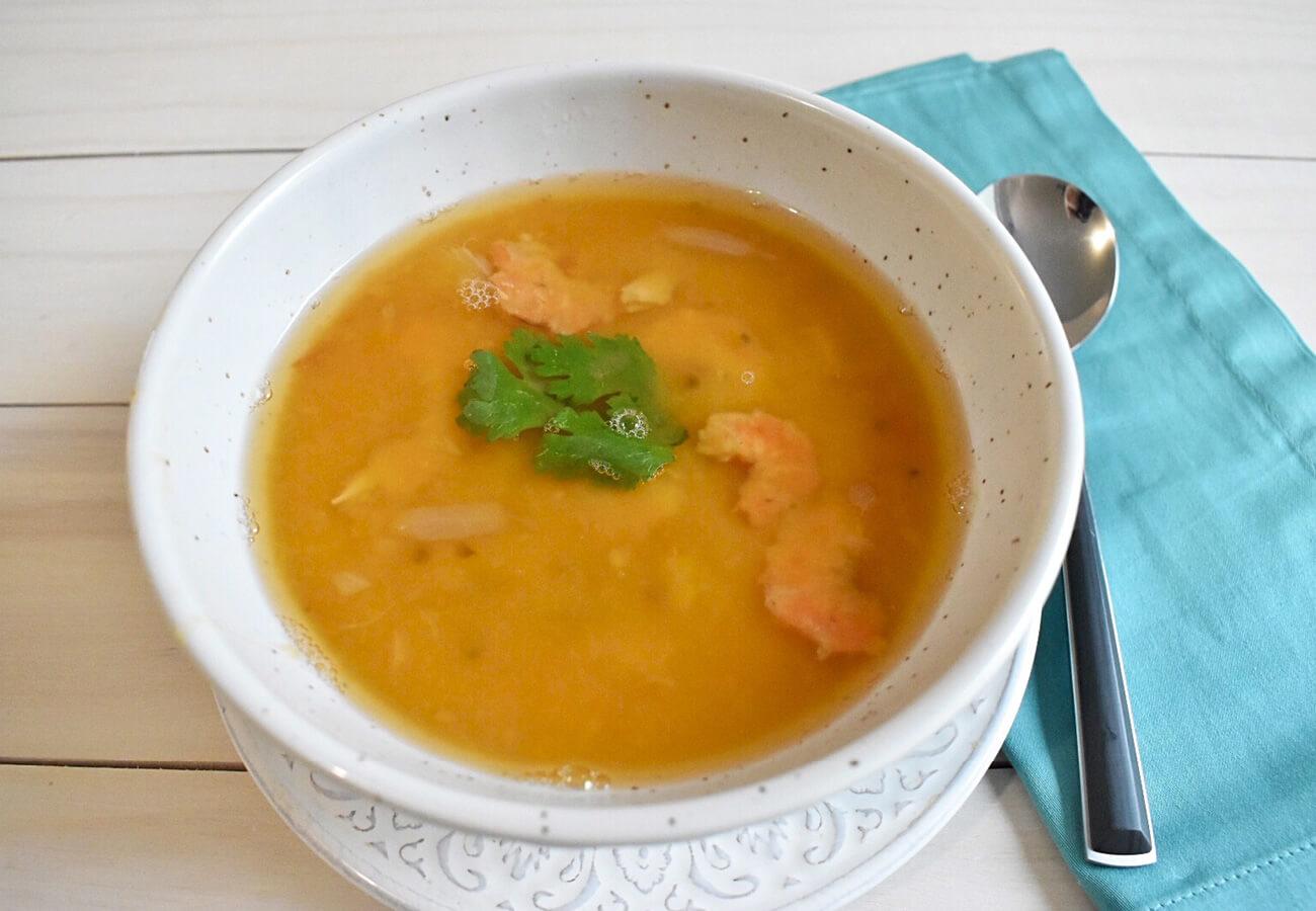 sopa cremosa de habas